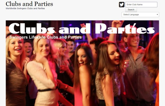 swingers clubs and parties